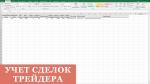 Таблица сделок трейдера в Excel. Учёт сделок на бирже