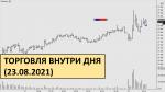 Торговля фьючерсами внутри дня 23.08.2021